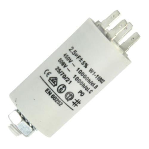 Anlaufkondensator Betriebskondensator 2,5uF 2,5µF mit STECKER (Motorkondensator)