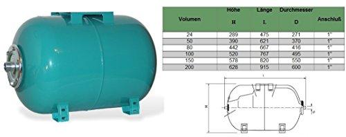 hauswasserwerk 100 liter membrankessel pumpe mhi1300. Black Bedroom Furniture Sets. Home Design Ideas