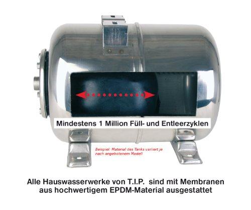 T.I.P. 31311 Hauswasserwerk HWW 1300/50 Plus TLS mit Trockenlaufschutz und 50 Liter Tank - 4