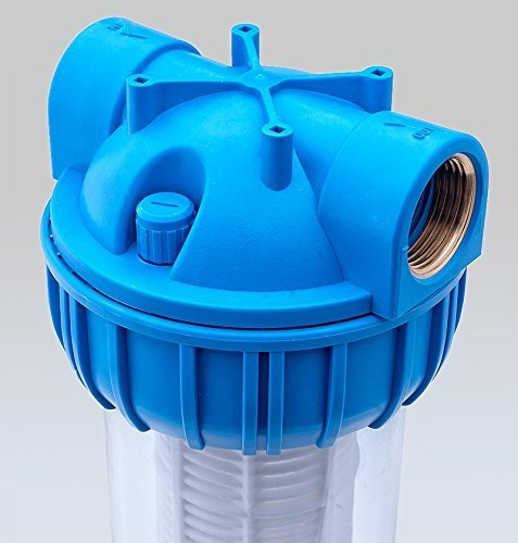 PRIESER Pumpen-Vorfilter, Wasserdurchfluss bis 5.000 l/h mit Wandhalterung und Filterschlüssel - 6