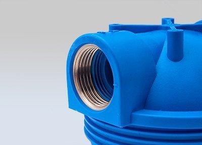 PRIESER Pumpen-Vorfilter, Wasserdurchfluss bis 5.000 l/h mit Wandhalterung und Filterschlüssel - 7